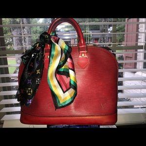 Louis vuitton Alma pm Red handbag